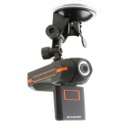 "2"" TFT 1.3MP CMOS Dual Lens Wide Angle Car DVR Camcorder w/ GPS / TF / Micro USB - Black"