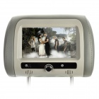 "7"" HD TFT Screen Car Headrest Monitor with Remote Controller / AV-IN - Grey (2 PCS)"