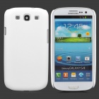 Protective Plastic Back Cover Case w/ Screen Guard for Samsung Galaxy S III / i9300 - White