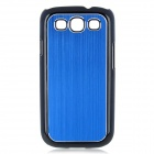 Protective Aluminum PC Back Cover Case for Samsung Galaxy S III / i9300 - Blue