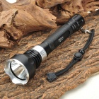 900LM 5-Mode White Diving Flashlight - Black (2 x 18650)