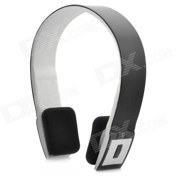 BH-02 Bluetooth Stereo Headset Headphone w/ Microphone - Black + White