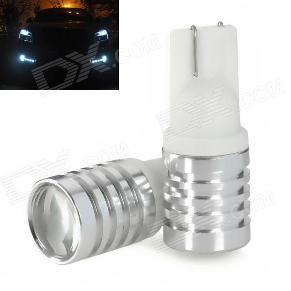 T10 3W 270LM 6000K White LED Car License Plate Lamp / Dashboard Light / Width Light - White (2 PCS)