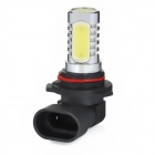 9006 6W 300LM 6000-6500K White 4-LED Car Fog Light - Silver + Black