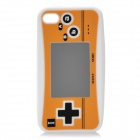 Creative PSP2 Pattern Silicone Case for Iphone 4 / 4S - White + Yellow