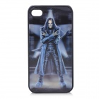 3D Anne Stokes Goth Rock Pattern Protective Plastic Back Case for Iphone 4 / 4S - Grey