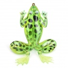 Soft Lifelike PVC Rubber Frog Style Fishing Bait - Green (11g / 8.5cm)