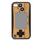 Creative PSP2 Pattern Silicone Case for iPhone 4 / 4S - Black + Yellow