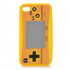 Creative PSP2 Pattern Silicone Case for Iphone 4 / 4S - Yellow