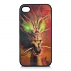 Creative Protective 3D Fire Dragon Pattern Plastic Case for Iphone 4 / 4S - Golden + Black