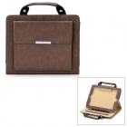 Hand Held Briefcase Style Protective PU Leather Case for Ipad 2 / The New Ipad - Brown