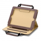 Capa de Couro Hand Held Pasta Estilo de protecção PU para Ipad 2 / The New Ipad - Brown