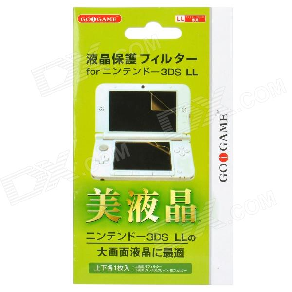 GOiGAME Protective Full Screen Guards w/ Cleaning Cloth for Nintendo 3DS.LL - Green