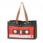 Stilvolle Cassette Pattern Nylon One Shoulder Tasche - Schwarz + Rot