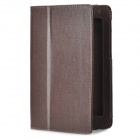 Lychee Pattern Protective PU Leather Case for Google Nexus 7 - Brown