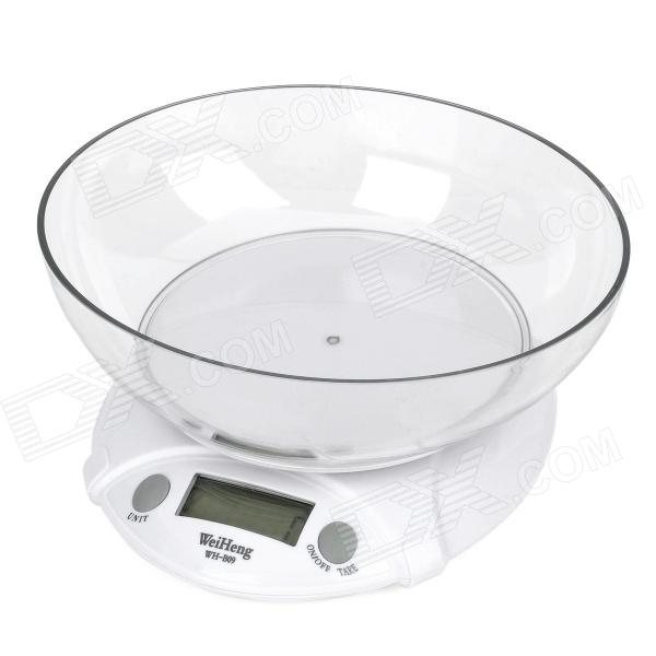 1.8 LCD Digital Kitchen Scale - White (7kg/1g) pocket 0 1 500g digital balance food flour weight scale kitchen measuring spoon 2 x aaa