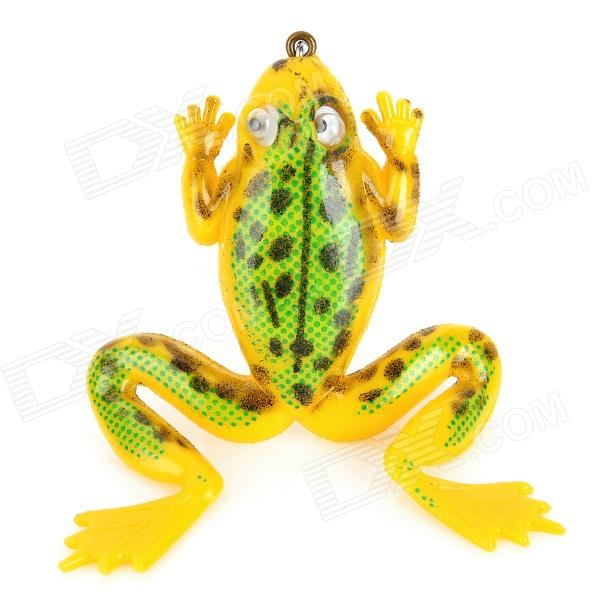 Soft Lifelike PVC Rubber Frog Style Fishing Baits - Yellow (3.5g / 40mm)