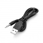 3.5mm TRRS Audio Jack Plug to USB Male Connection Cable - Black (80cm)