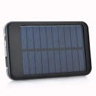 5000mAh Portable Solar Powered Mobile Power Battery Charger w/ 10 Adapters - Black