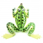 Soft Lifelike PVC Rubber Frog Style Fishing Bait - Green (6g / 60mm)