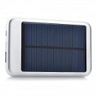 5000mAh Portable Solar Powered Mobile Power Battery Charger w / 10 Adapter - Silber