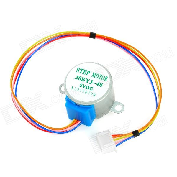 DIY 5V Stepper Motor / Reduction Motor - Silver + Blue