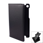 Protective Rotation PU Leather Case for Google Nexus 7 - Black