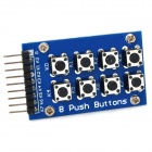 8 Push Buttons Keypad Module - Blue