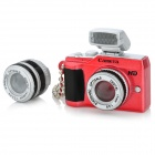 Mini MILC Camera Style Cell Phone Strap w/ Flash LED - Red (3 x LR41)