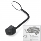 Flexible Bicycle Helmet Rearview Mirror - Black