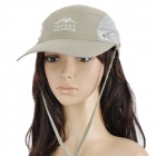 Topsky Outdoor Sports Quick-Dry UV Protection Nylon Fabric Cap Hat w/ Detachable Cover - Khaki