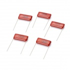 105 1uF 250V Metallized Polyester Film Capacitor (5 PCS)