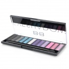 Magic Fashion Kosmetik Make-up 12-Farben Eye Shadow Set mit Smudger