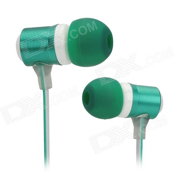 XKDUN CK-820 Stylish In-Ear Earphone w/ Microphone - Dark Green + White (3.5mm Jack) keeka mic 103 stylish universal 3 5mm jack wired in ear headset w microphone red blueish green