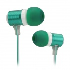 XKDUN CK-820 Stylish In-Ear Earphone w/ Microphone - Dark Green + White (3.5mm Jack)