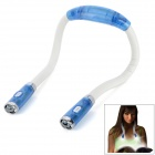 Stilvolle 4-LED tragbare Freisprecheinrichtung Flexible Neck Hug Light - Weiß + Blau (2 x AAA)