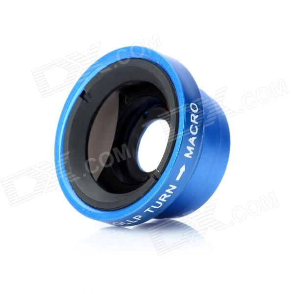 W-67 Detachable 0.67X Wide Angle + Macro Lens for Cell phone / Camera - Blue
