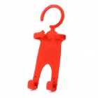 Special Figure Style Hanging Cell Phone Holder for iPhone 4S + More - Red