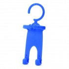 Special Figure Style Hanging Cell Phone Holder for iPhone 4S + More - Blue