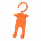 Special Figure Style Hanging Cell Phone Holder for iPhone 4S + More - Orange