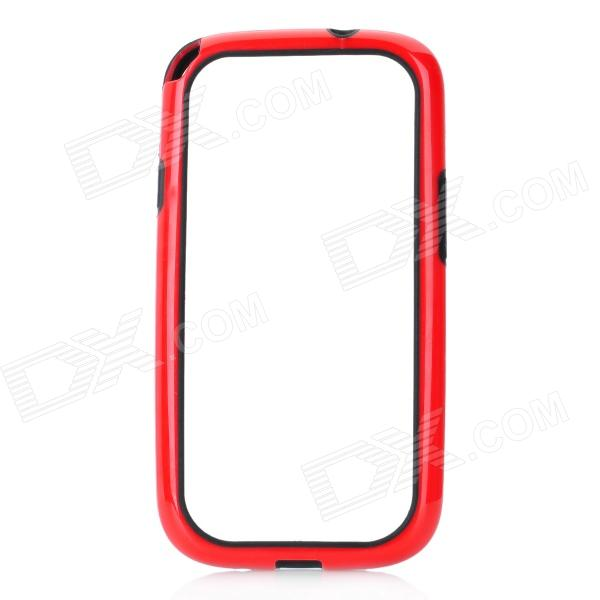 Hot Protective TPU + PVC Bumper Frame Case for Samsung Galaxy S 3 i9300 - Red hot protective tpu pvc bumper frame case for samsung galaxy s 3 i9300 white black