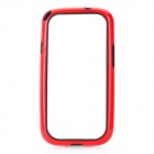 Hot Protective TPU + PVC Bumper Frame Case for Samsung Galaxy S 3 i9300 - Red