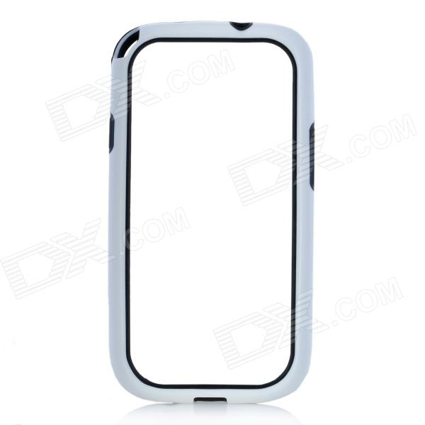Hot Protective TPU + PVC Bumper Frame Case for Samsung Galaxy S 3 i9300 - White + Black hot protective tpu pvc bumper frame case for samsung galaxy s 3 i9300 white black