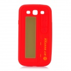 Pager Style Protective Silicone Back Case for Samsung Galaxy S III / i9300 - Red