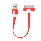USB Sync Data / Charging Flat Cable for iPhone 4 / 4S - Red + White