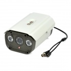 "1/3"" CCD 700TVL Surveillance Security Camera w/ 2-LED IR Night Vision - White"