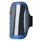 Outdoor Protective Lycra Fabric Armband for Samsung i9300 - Black + Blue