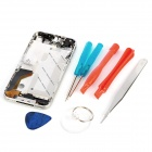 Replacement Mid Board Middle Bezel Chassis Frame w/ Repair Tool Kit for iPhone 4 - Silver