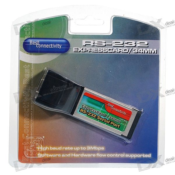 Serial Port 9-PIN RS232 ExpressCard Laptop Extension Card