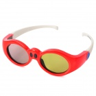 IR Active Shutter 3D Glasses for Children - Red + White